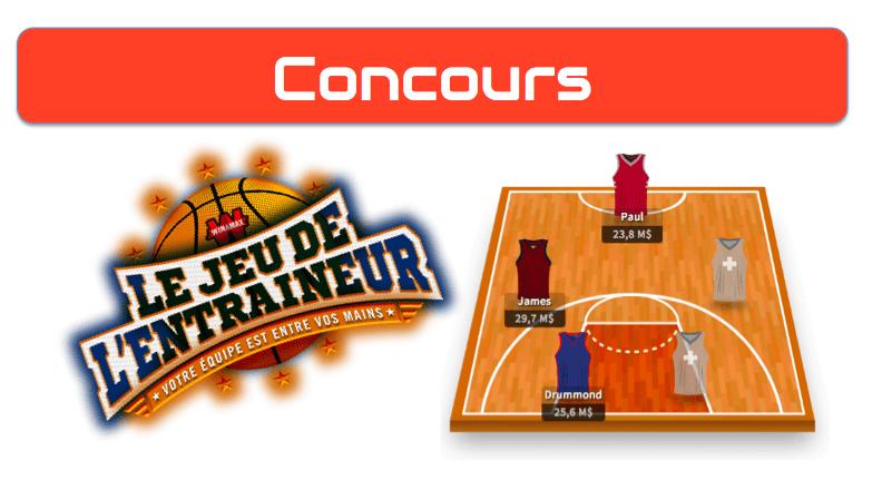 Concours Jeu de l'Entraineur - Fantasy NBA - JDE Winamax